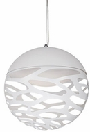 Kuzco PD2514-WH Neptune Modern White LED 13.75  Hanging Light Fixture
