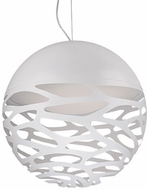 Kuzco PD2519-WH Neptune Modern White LED 19  Drop Ceiling Lighting