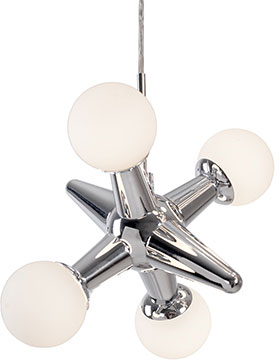 Kuzco pd51007 ch jaxs contemporary chrome led mini chandelier light kuzco pd51007 ch jaxs contemporary chrome led mini chandelier light aloadofball Images