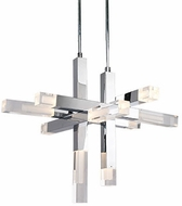 Kuzco PD53330-CH Martelo Contemporary Chrome LED Chandelier Lighting