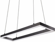 Kuzco PD61230-BK Piazza Contemporary Black LED 30  Kitchen Island Light