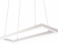 Kuzco PD61230-WH Piazza Modern White LED 30  Island Light Fixture
