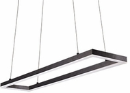 Kuzco PD61242-BK Piazza Contemporary Black LED 42  Kitchen Island Light Fixture