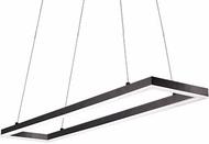 Kuzco PD61255-BK Piazza Contemporary Black LED 55  Kitchen Island Lighting