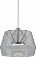 Kuzco PD61418-SM-BN Deco Contemporary Smoked / Brushed Nickel LED Hanging Light