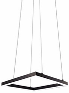 Kuzco PD62216-BK Piazza Contemporary Black LED 16  Pendant Lighting Fixture