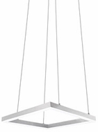 Kuzco PD62216-WH Piazza Modern White LED 16  Hanging Pendant Lighting