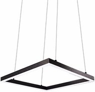 Kuzco PD62232-BK Piazza Contemporary Black LED 32  Hanging Pendant Light