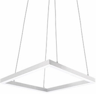 Kuzco PD62232-WH Piazza Modern White LED 32  Pendant Hanging Light