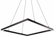 Kuzco PD62243-BK Piazza Contemporary Black LED 43  Hanging Light Fixture