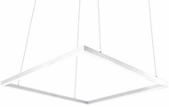 Kuzco PD62255-WH Piazza Modern White LED 5  Ceiling Light Pendant