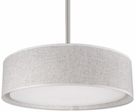 Kuzco PD7916-BG Brushed Nickel LED 16  Drum Hanging Pendant Lighting