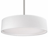 Kuzco PD7916-WH Brushed Nickel LED 16  Drum Pendant Hanging Light