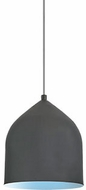 Kuzco PD9108-GH-BU Helena Modern Graphite With Blue LED Mini Drop Ceiling Light Fixture