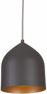 Kuzco PD9108-GH-CP Helena Contemporary Graphite with Copper LED Mini Drop Lighting Fixture
