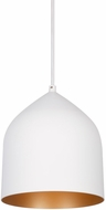 Kuzco PD9108-WH-CP Helena Contemporary White with Copper LED Mini Pendant Lamp