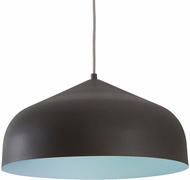 Kuzco PD9117-GH-BU Helena Modern Graphite with Blue LED Pendant Light Fixture
