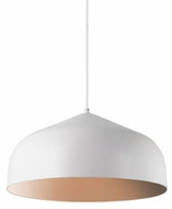 Kuzco PD9117-WH-CP Helena Contemporary White With Copper LED Hanging Light Fixture