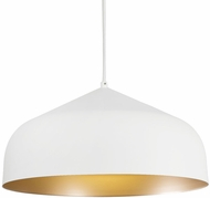 Kuzco PD9117-WH-GD Helena Modern White with Gold LED Drop Lighting