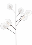 Kuzco PD91406-CH-07 Sprout Contemporary Chrome LED Chandelier Lamp
