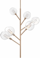 Kuzco PD91406-VB-07 Sprout Modern Vintage Brass LED Hanging Chandelier