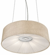 Kuzco PD9520-BG Chrome LED 20  Drum Ceiling Light Pendant