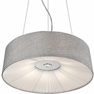 Kuzco PD9520-GY Chrome LED 20  Drum Ceiling Pendant Light