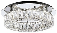Kuzco SF7818 Solaris Chrome LED 18  Home Ceiling Lighting