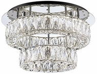 Kuzco SF7830 Solaris Chrome LED 18  Overhead Lighting Fixture