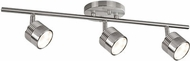 Kuzco TR10022-BN Modern Brushed Nickel LED 3-Light Track Lighting Kit