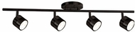Kuzco TR10031-BZ Contemporary Bronze LED 4-Light Track Lighting Fixture