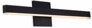 Kuzco VL10323-BK Vega Modern Black LED 23  Bath Lighting Sconce