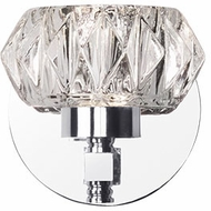 Kuzco VL54204-CH Basin Chrome LED Wall Light Fixture