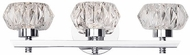 Kuzco VL54216-CH Basin Chrome LED 3-Light Bathroom Lighting Fixture