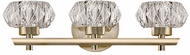 Kuzco VL54216-VB Basin Vintage Brass LED 3-Light Vanity Lighting