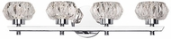Kuzco VL54222-CH Basin Chrome LED 4-Light Vanity Light