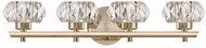 Kuzco VL54222-VB Basin Vintage Brass LED 4-Light Bath Light Fixture