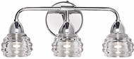 Kuzco VL54516-CH Nest Contemporary Chrome LED 3-Light Bathroom Vanity Lighting