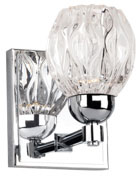 Kuzco VL56205-CH Tulip Modern Chrome LED Wall Light Sconce