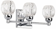 Kuzco VL56216-CH Tulip Modern Chrome LED 3-Light Bathroom Wall Sconce