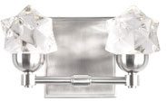 Kuzco VL56310-BN Polaris Contemporary Brushed Nickel LED 2-Light Bathroom Lighting Sconce
