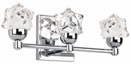 Kuzco VL56315-CH Polaris Modern Chrome LED 3-Light Bathroom Wall Light Fixture
