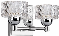 Kuzco VL56410-CH Malt Modern Chrome LED 2-Light Bathroom Light