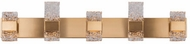 Kuzco VL9542-GB Oslo Contemporary Brushed Gold LED 5-Light Bathroom Lighting Fixture