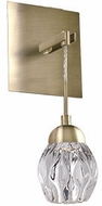 Kuzco WS56205-VB Tulip Modern Vintage Brass LED Sconce Lighting