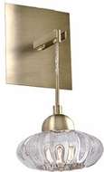 Kuzco WS56505-VB Lantern Contemporary Vintage Brass LED Wall Mounted Lamp