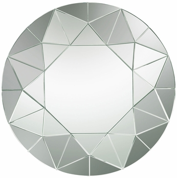 Lazy Susan 114-135 Contemporary Silver Wall Mounted Mirror