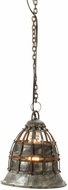 Lazy Susan 135003 Fortress Vintage Distressed Silver Mini Pendant Lighting
