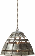 Lazy Susan 135004 Colossal Fortress Traditional Distressed Silver Pendant Light