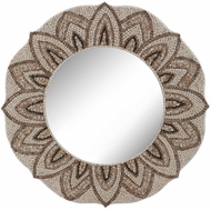 Lazy Susan 163-025 Shell Mirror Natural Wall Mounted Mirror